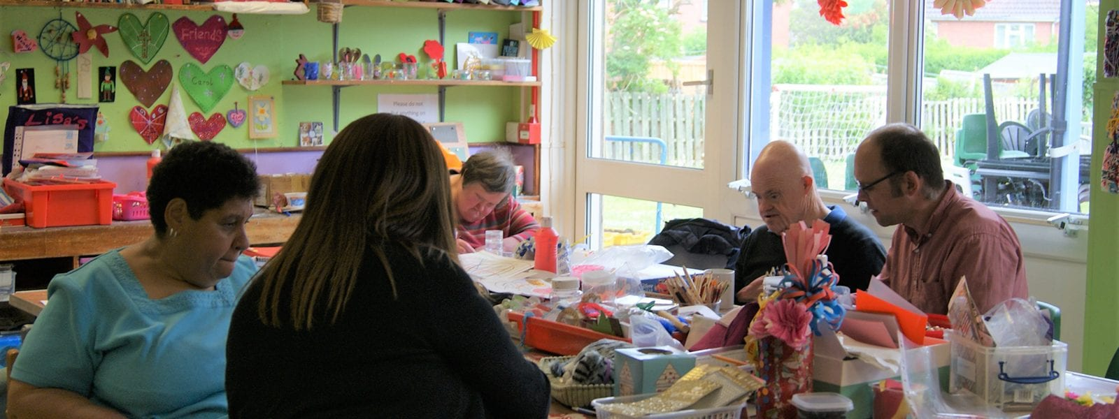 Craft room at Haven Day Centre Bristol